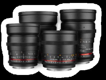 Rent: Rokinon Cine DS Prime Lens bundle (EF Mount) 16, 24, 35, 50