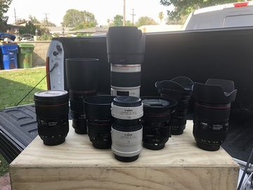 Rent: Full canon L series kit. Everything you could need.