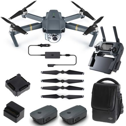 DJI Mavic Pro with 3 batteries, case, chargers, controller