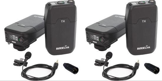 Two RodeLink Wireless Lavs