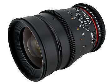 Rent: Canon/Rokinon Cinema Lens Package