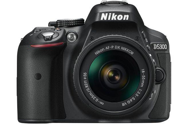 Nikon D5300 24.2MP Digital SLR Camera - Black w/AF-P 18-55mm