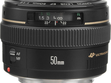 Rent: Canon 50mm Lens USM Ultrasonic f1.4