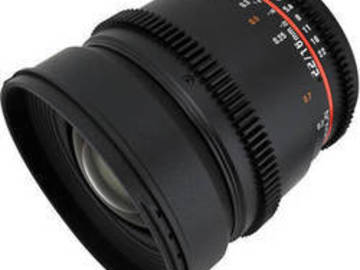 Rent: Rokinon 16mm T2.2 Wide Angle Cine Lens for Canon