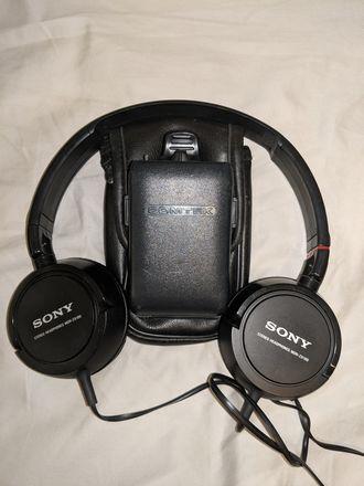 Comtek PR-216 Receiver and Sony Headphones
