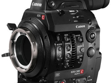 Canon C300 MKII Mount Camera w/ Media, Batts, & Charger
