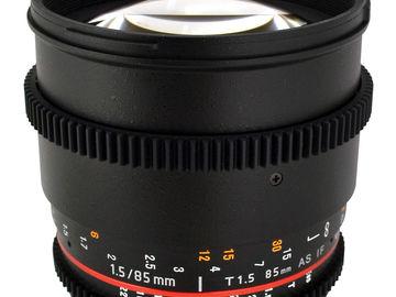 Rent: Rokinon 85mm t/1.5 Cine lens