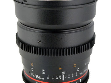 Rent: Rokinon 24mm t/1.5 Cine lens