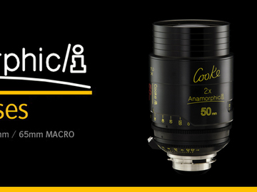 COOKE Anamorphic set 25mm, 50mm