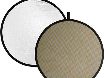 "Rent: 42"" Reflector Disc (soft gold/white)"