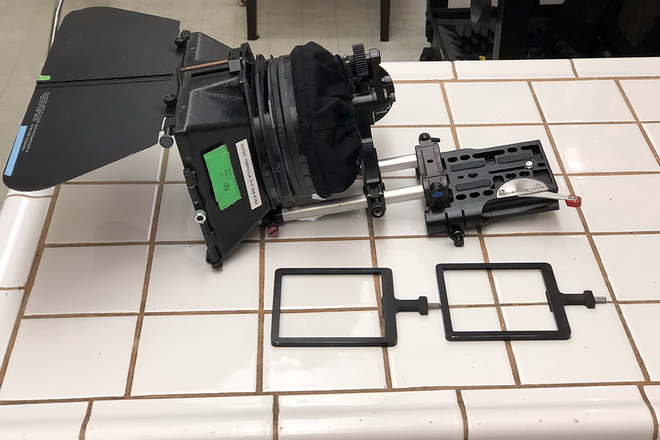 Matte box with Rods, Follow Focus and Filters 4x4