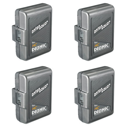 4x Anton Bauer DIONIC HC Battery w/ 2702 Quad Charger