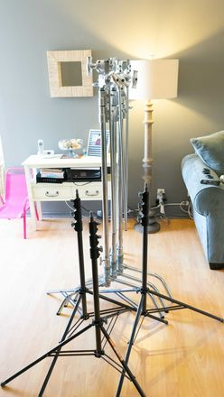 3 C stands and 3 Heavy light stands