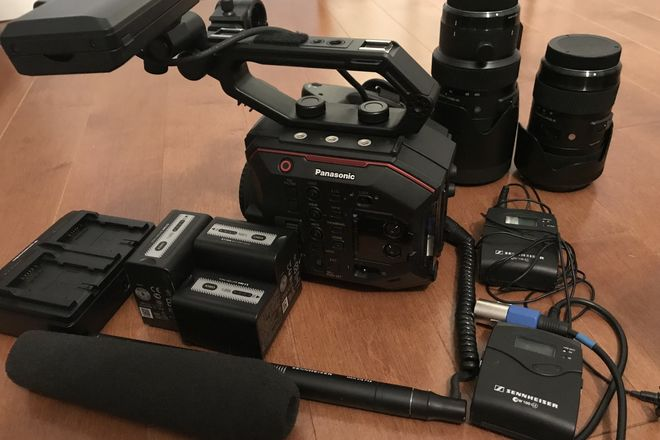 Panasonic AU-EVA1 Documentary Package with Lenses and Audio