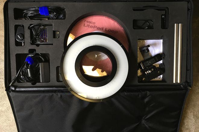 LED RING LIGHT KIT with rod mount system