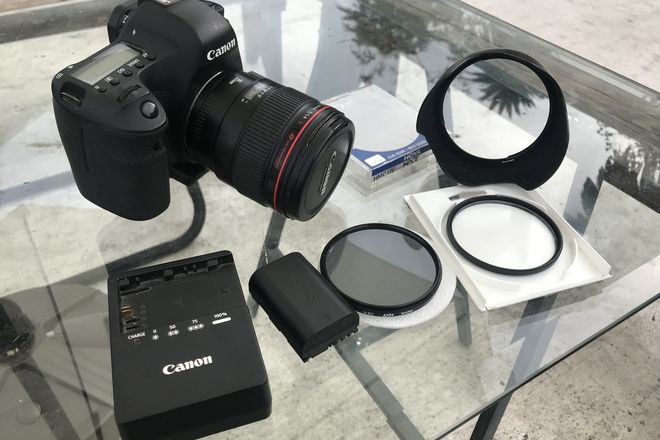 Canon EOS 6D with 35mm l series 1.4 and nd filter