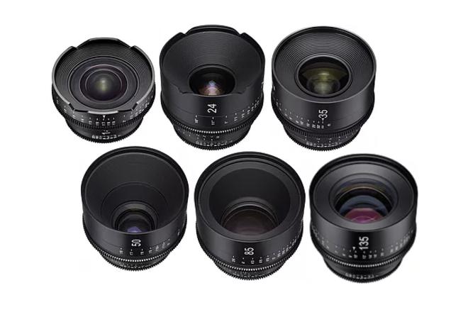 Rokinon Cine Xeen 6 Lens Set, 16-24-35-50-85-135mm