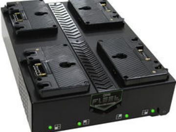 Rent: Core SWX  Four Bay Fleet Q Quad Battery Charger (Gold Mount)