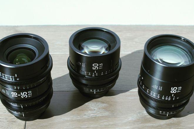 Sigma Cine FF High Speed Primes 3 Lens Kit (18-35, 50, 85)