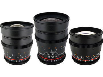Rent: Rokinon T1.5 Cine Lenses for Canon EF (24mm, 35mm, 85mm)
