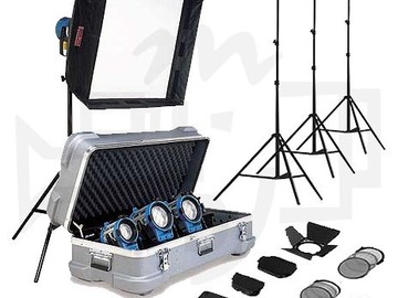Rent: Arri light kit. 5 lights & stands! Includes 1k w/chimera