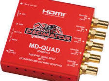Rent: Decimator QUAD 3G/HD/SD Quad Split Multiviewer