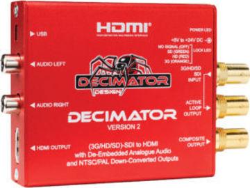 Rent: Decimator Version 2 Miniture 3G/HD/SD-SDI to HDMI Converter