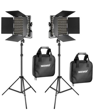 Neewer Bi-Color 660 LED Video Studio Light Kit with Stands