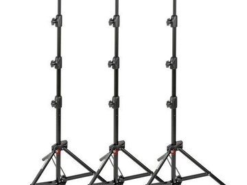 Rent: (3) Manfrotto 6-Feet 9-Inches Alu Mini Compact Stand