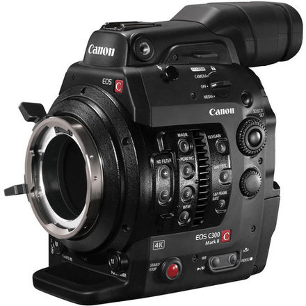 Canon C300 MKII PL Mount Camera w/ Media, Batts, & Charger