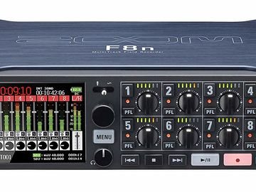 Zoom F8n Recorder with Case, Batteries, & Harness