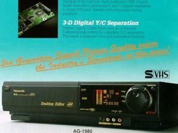 Rent: Panasonic VHS S-VHS PRO Editing VCR Player / Recorder