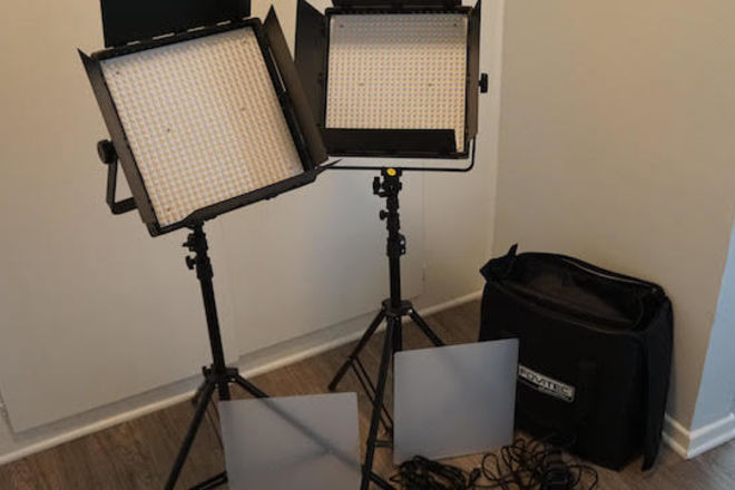 Fovitec StudioPRO - 2x Bi Color 600 LED Panel Bundle