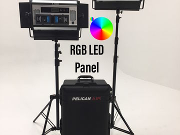 Two RGB W LED Light Panel Multicolor PACKAGE Skypanel