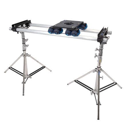 Dana Dolly with 6' Rails, Stands and 75mm Manfrotto Head