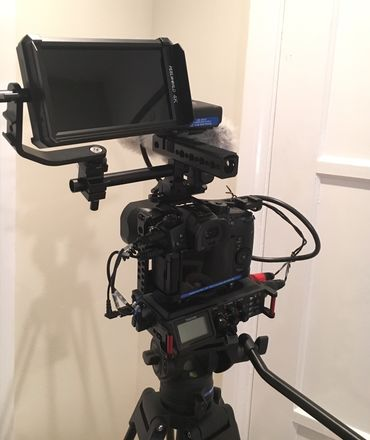 GH5 with 25mm, DSLR Audio Kit, Lav Mics, Mixer, and Monitor