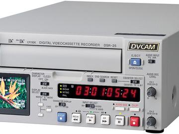 Rent: Sony DSR-25 Compact DVCAM/ DV VTR