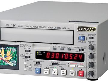 Rent: Sony DSR-45 Compact DVCAM / DV VTR