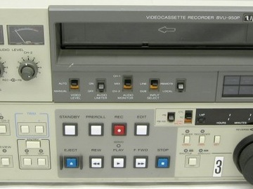 "Rent: Sony BVU-950 3/4"" NTSC VTR"