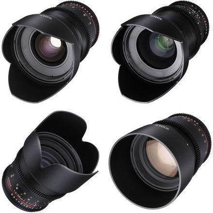 Rokinon Cine DS Lens Set (24mm, 35mm, 50mm, 85mm)