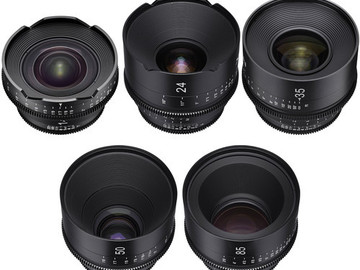 Rent: XEEN ROKINON CINEMA LENSES SET, CHOOSE FIVE