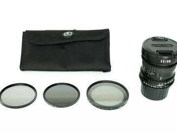 Rent: Tokina 11-16 PL / 82mm Filter Kit /  Cinema Version