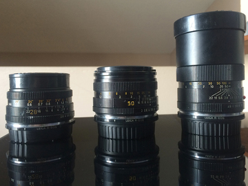 Rent: Leica Prime Lens Kit (28mm, 50mm, 135mm)
