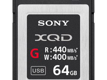 Rent: Sony 64GB XQD G Series Memory Card