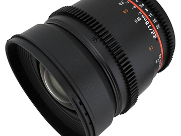 Rent: Rokinon 16mm and 24mm cine EF