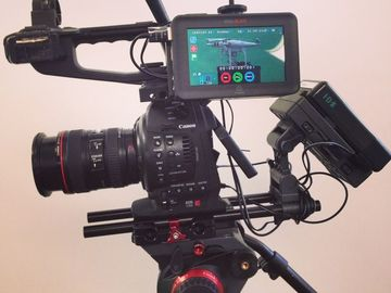 Rent: Canon C100 Large Battery/ Boom pole