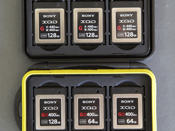 8 x XQD cards for Sony FS7 - full day of footage
