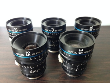 Rent: Schneider Xenon FF 5 Lens Set (EF or PL)