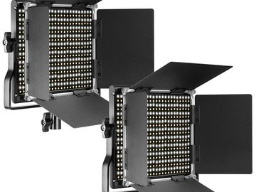 Rent: 2X - Neewer Metal Bi-Color Dimmable 660 LED Video Lights