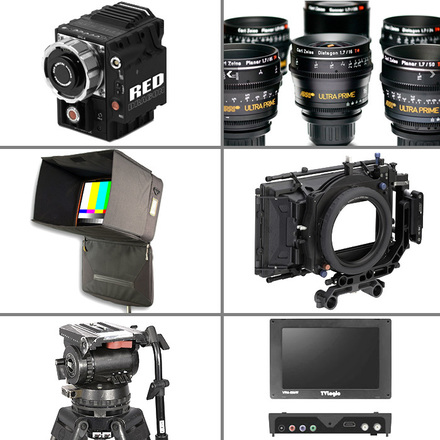 Red Epic Dragon Complete Cinema package with 5 Ultra Primes